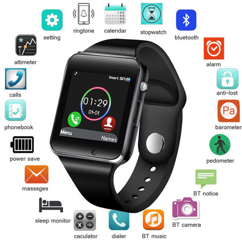 Mens Smart Watches Men Waterproof Women Support SIM TF Card Bluetooth Call Pedometer Sports Smart Watch 2019 Android IOS