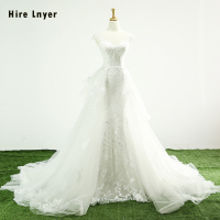 NAJOWPJG Custom Made Alibaba China Wedding Gowns Vestido De Casamento Appliques White Organza A line Wedding Dress Robe Mariage