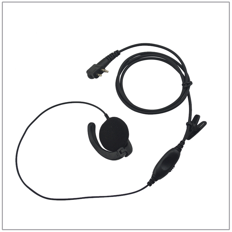 Endure 1 Wire Audio Earpiece with PTT for Motorola BPR40 CP100 CP200D SP50 P1225