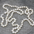 Fashion necklace pearl jewelry making 7-8mm natural pearls white beads for women long chain charms high grade gifts 36inch B3239