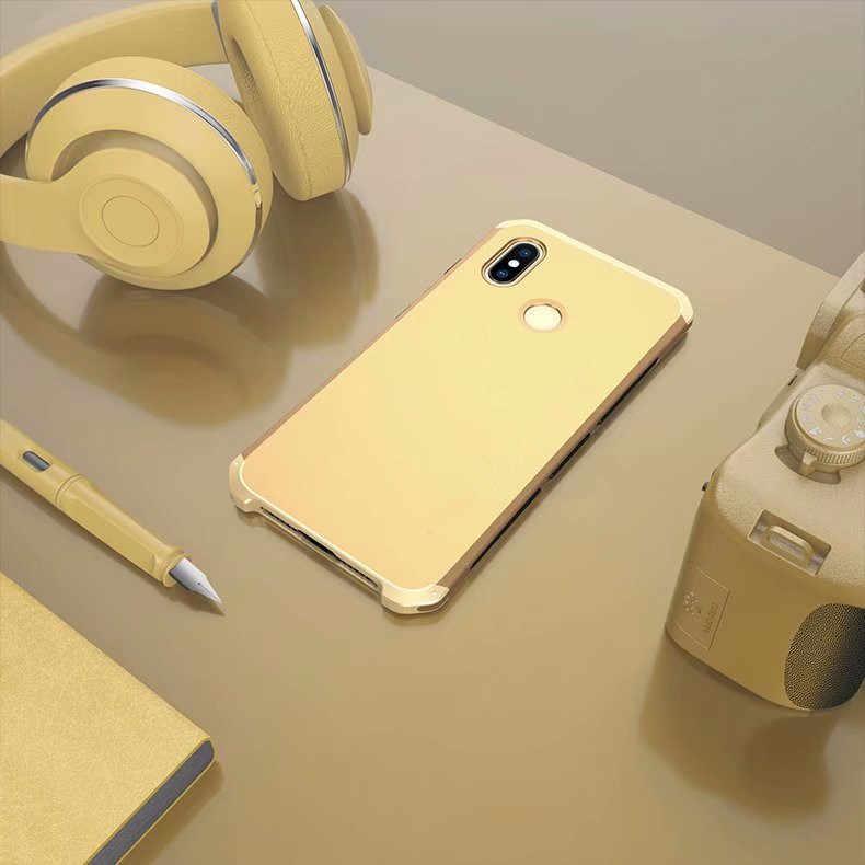 R-JUST Роскошные Доспехи чехол для Xiaomi mi6 MI8 SE Mix2 Mix2s Mi5s плюс Redmi Note 5 Pro Metal Алюминий + сверхмощный защиты Чехол