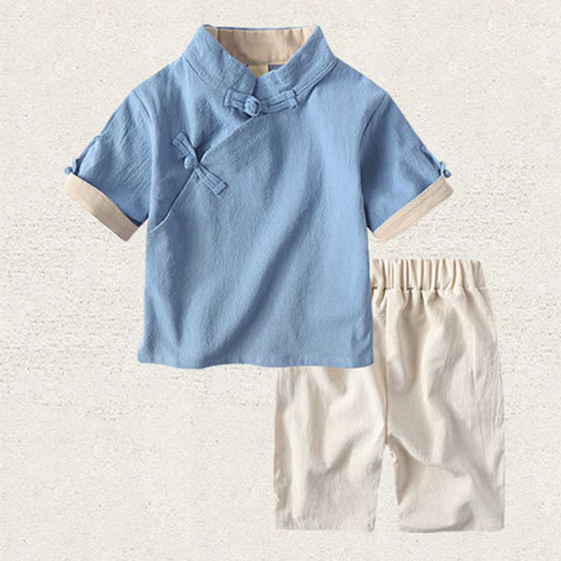 2019 Chinatown Hanfu Kids Boys Girls kung fu Suit Koi Carp Chinese Traditional Costumes New Year Children Clothing set Cotton