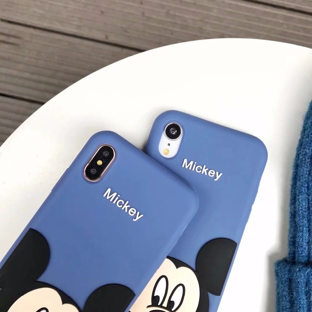 3D Cartoon Cute Mickey Minnie Mouse Soft Silicone Back Cover For iPhone 5 5s SE 5C 6 6s X XR Xs Max 7 8 Plus Phone Case Fundas in Fitted Cases from Cellphones Telecommunications