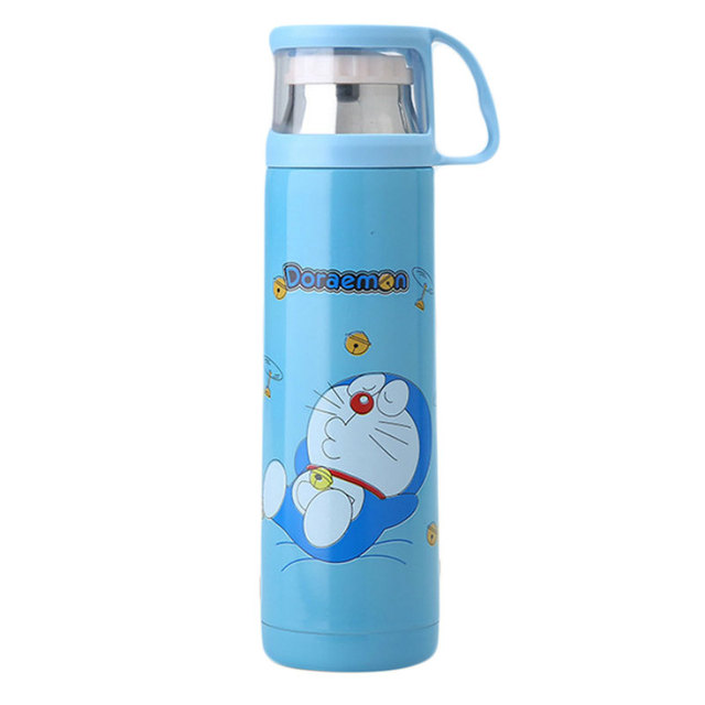 Vacuum Cup Schoolgirl Kitty Doraemon Originality Stainless Steel Lovely Lovers Kids With Cover Portable Outdoors Bottle