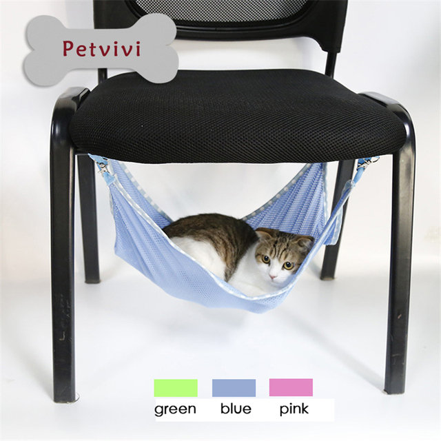 cat hammock under chair recliner lift chairs dropship spring summer use breathable mesh dog crate hanging bed comfortable cattery