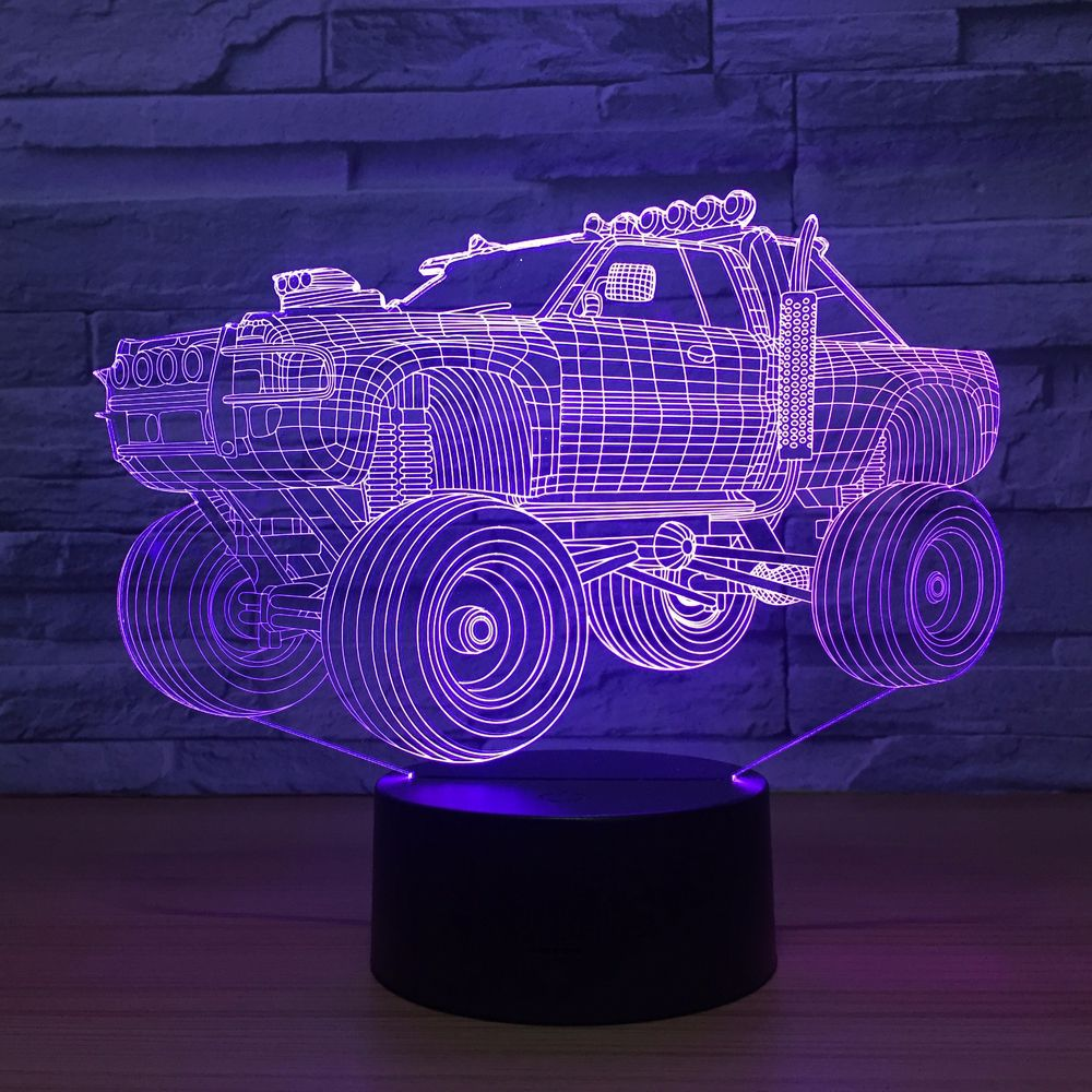 Off-road Vehicle 3D Lamp 7 Color Changing Visual Night Light SUV Car 3D light LED Table Lamp Touch Switch Desk Light Party GiftOff-road Vehicle 3D Lamp 7 Color Changing Visual Night Light SUV Car 3D light LED Table Lamp Touch Switch Desk Light Party Gift