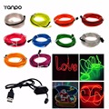 6ft  5M Neon LED Light Flexible Neon Glow EL Wire String Strip Rope Tube Lighting + 5V USB Controller