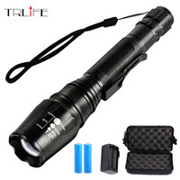 Linternas LED X800, linterna led L2 T6, cuentas de lámpara con zoom G700, linterna LED para camping, caza, luz de Flash de aluminio