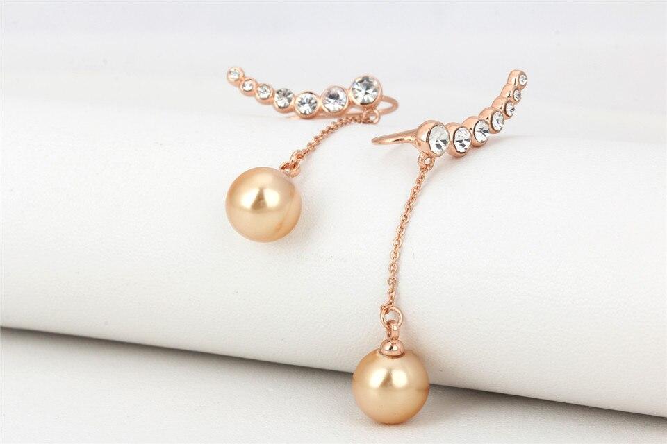 f PISSENLIT Diamond Long Drop Earrings Gold Silver Earrings Women Jewelry Wing Elegant Korean Jewelry Pearl Earring Accessories