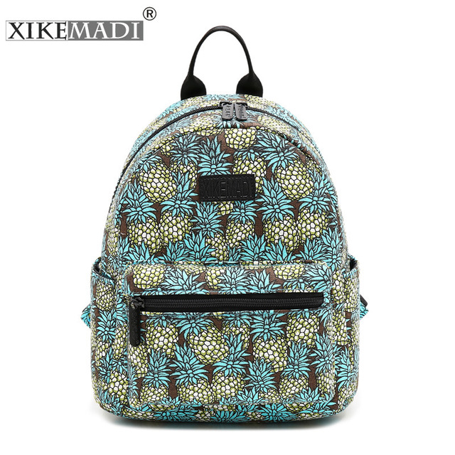 Cute Pineapple Pattern Cool Youth Women Backpack 3d Print Summer
