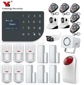 Indoor Bildschirm Tür   YoBang Sicherheit WIFI GSM Einbruchmeldeanlage Indoor Outdoor Wireless Video IP Kamera Lcd-bildschirm Wireless Home Security Alarm.