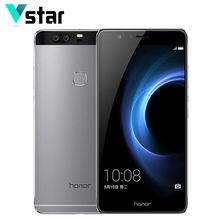 Original Huawei Honor V8 Octa Core 2K 1920*1080 Screen Cell Phone 5.7 inch 4GB RAM Android 6.0 LTE Kirin 950 Dual SIM 3 Cameras