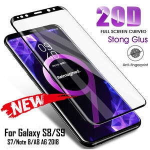 Tempered-Glass Protection-Film Curved S7-Edge S9-Plus Note-9 Samsung Galaxy 20D Full