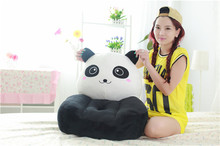 lovley plush black and white panda children sofa toy cute panda sofa toy gift about 50x45cm 0411