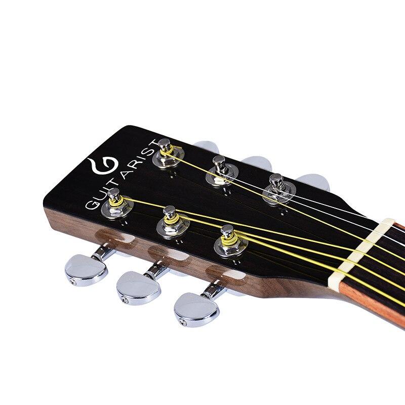 Guitare guitariste 40 41 pouces guitare acoustique bois d'acajou finition brillante touche palissandre guitarra avec cordes de guitare - 4