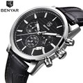 BENYAR Brand Watch Men Luxury Brand Business Waterproof Chronograph Quartz Wrist Watch Male Sport Men Watch Relogio Masculino