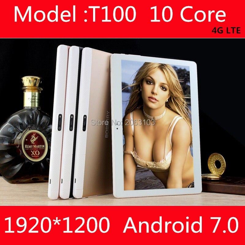 10 дюймов Планшеты ОС Android 7.0 4 г LTE планшетный ПК Дека core 4 ГБ Оперативная память 128 ГБ Встроенная память 1920*1200 IPS дети подарок СЕРЕДИНЕ Планшеты
