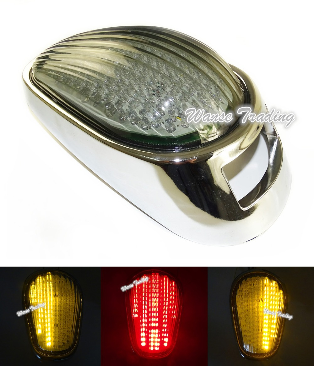 E-Marked Tail Brake Turn Signals Integrated Led Light Smoke For 2004 2005 2006 2007 2008 2009 2010 KAWASAKI Vulcan 2000 VN2000 aftermarket free shipping motorcycle parts led tail brake light turn signals for honda 2000 2001 2002 2006 rc51 rvt1000r smoke
