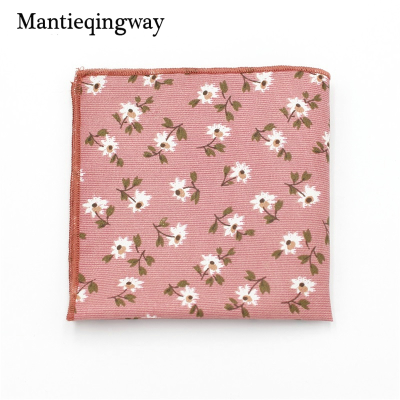 Mantieqingway Casual Suit Floral Printed Handkerchiefs For Wedding Party Pocket Square Hankies Wear Pockets Hanky Chest Towel