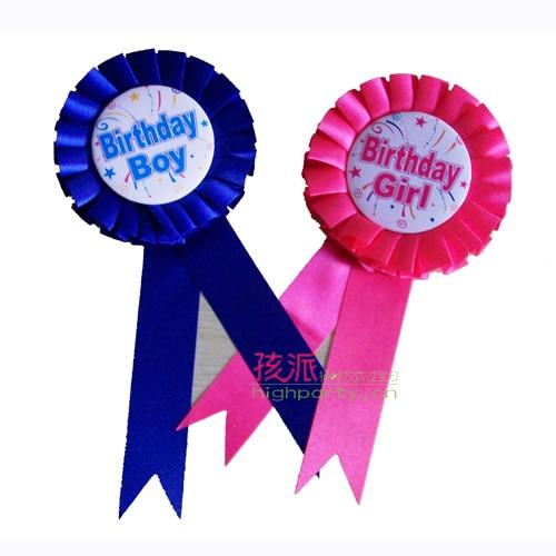 Child birthday decoration baby birthday party supplies birthday decoration props badge
