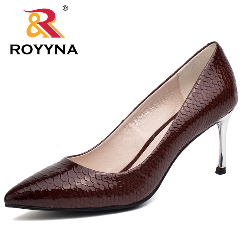 ROYYNA 2017 New Classics Style Wmen Pumps Pointed Toe Women Shoes High Thin Heels Ladies Wedding Shoes Comfortable Free Shipping siketu 2017 free shipping spring and autumn women shoes fashion sex high heels shoes red wedding shoes pumps g107