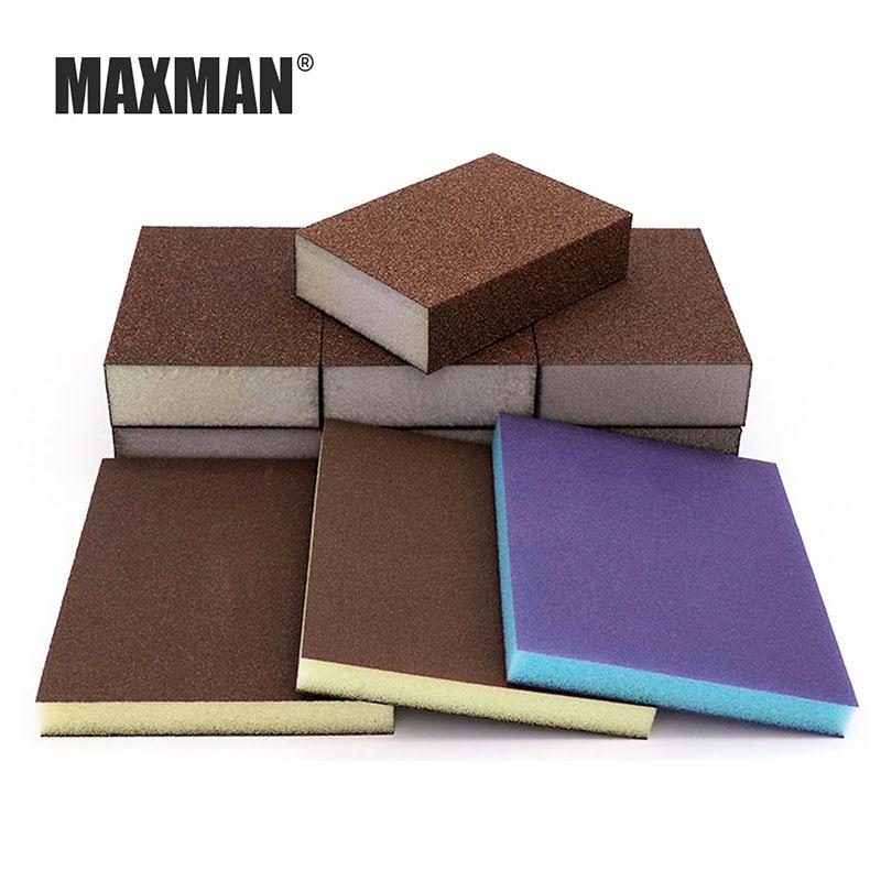 MAXMAN Sponge Sand Block Woodworking Polishing Elastic Grinding Block High-density Sponge Block Emery Sponge Sandpaper Abrasive