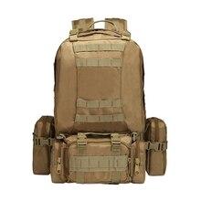 Super Huge Military Tactical Backpack Rucksack Climbing Bag MOLLE System Outdoor Sport Bag for Camping Travel Hiking Huting Bag