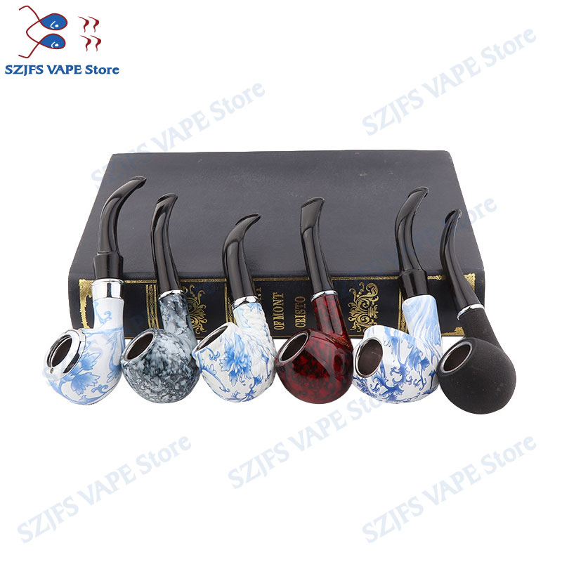 Electronic Cigarette EPipe 6 Pieces / Set Style Classic Wood Smoking Smoking Pipes Best Gift VSe Pipe 618 Kamry K1000 Plus E Cig