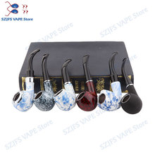 Electronic Cigarette ePipe 6 pieces / set Style classic wood smoking pipes best gift VSe pipe 618 Kamry K1000 Plus e cig