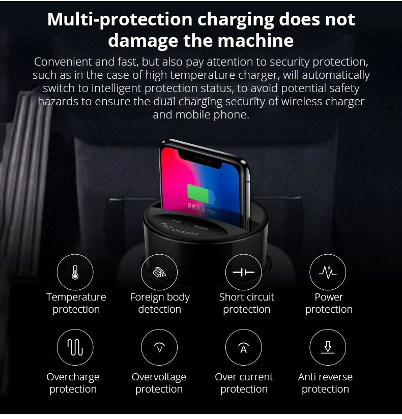 Qi Fast Wireless Car Charger Cup (6)