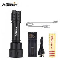 AloneFire TK20 LED Tactical Flashlight XM L T6 Zoomable Adjustable High Powered Handheld Torch Zoom Focus