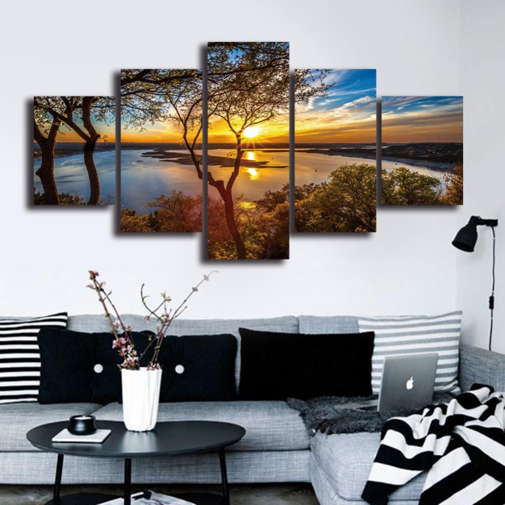 HD-Landscape-5-Panel-Wall-Art-Canvas-Painting-Printed-Framed-Pictures-Home-Decor-Large-Poster-For (1)