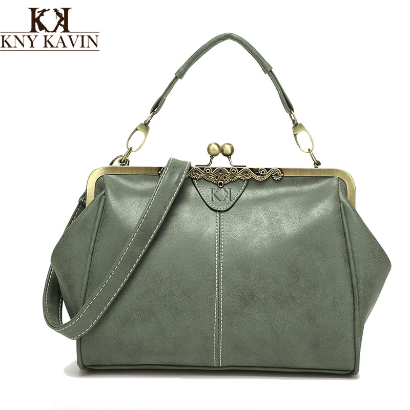 New vintage bags retro PU leather tote bag women messenger ...