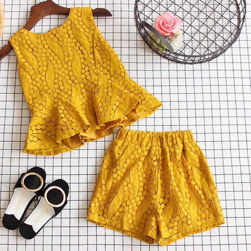 HTB1RNA1d21H3KVjSZFHq6zKppXaW - Humor Bear Baby Girl Clothes Hot Summer Children's Girls' Clothing Sets Kids Bay clothes Toddler Chiffon bowknot coat+Pants 1-4Y