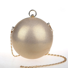 Ladies Evening Hand Bag Famous Brand Designer Mini Round Bags Dinner Party Dress Globe Shape Clutch