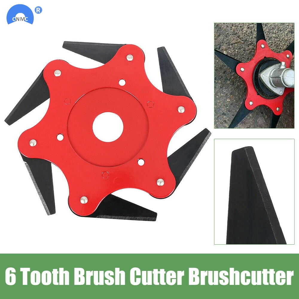2019 Newest 6 Teeth Brush Cutter Blade Trimmer Metal Blades Trimmer Head 65Mn Garden Grass Trimmer Head For Lawn Mower
