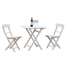 Garden Sets Outdoor Furniture folding garden furniture patio furniture muebles de jardin solid wood 1 table+2chairs set portable(China)