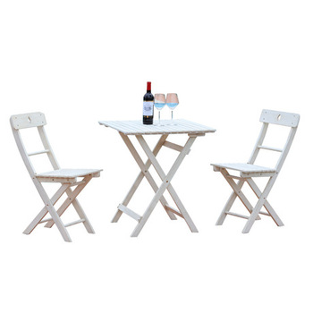 Zestaw ogrodowy meble ogrodowe składane meble ogrodowe meble ogrodowe muebles de jardin z litego drewna 1 stół + 2 zestaw mebli z krzesłami przenośny tanie i dobre opinie Ogród zestaw Nowoczesne Ecoz Metal iron