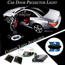 Plastica del Portello di Automobile Senza Fili Batteria Proiettore Laser Blu Luce di Marchio Su Misura