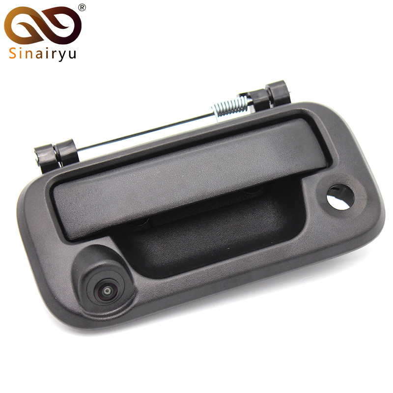 Sinairyu Tailgate Backup Reverse Handle with Camera for Ford 2005-2014 F150 F250 F350 F450 F550 Car Rear View Camera 5c3z9d930a for ford diesel powerstroke excursion f250 f350 f450 f550 250 350 450 550 f v8 6 0l fuel injector ficm wiring harness