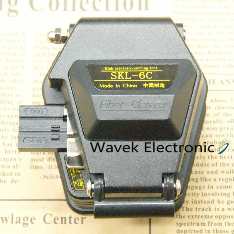 De fibra cleaver SKL-6C de corte de Cable cuchillo FTTT de fibra óptica herramientas cuchillo cortador de alta precisión cuchillas 16 de la superficie de la hoja