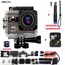 RICH Action Camera F68 F68R Ultra HD 4K 1080P Wifi 16MP 2 Inch Voice Alert 170 Len Helmet Cam Extreme Sports Camera