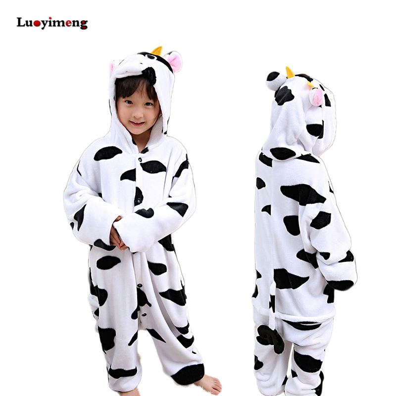 5254bba766bbb Winter Boys Girsl Panda Pajamas Onesie Unicorn Children Hooded Sleepers  Unisex Flannel Stitch Kids Animal Pyjamas Sleepwear Baby