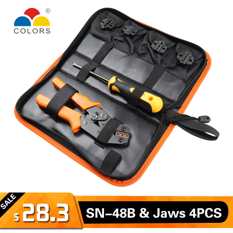 COLORS Crimper Cable Stripper Crimping Tool Wire Pliers Tools Cutter Crimp Cutters Alicate Stripper Plier Set Crimpatrice zange in Pliers from Tools