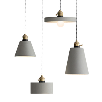 Nordic Cement Pendant Lamp LED Kitchen Dining & Bar Pendant Lights Bedroom Living Room Hotel Lobby Hanging Lamp Lighting Fixture