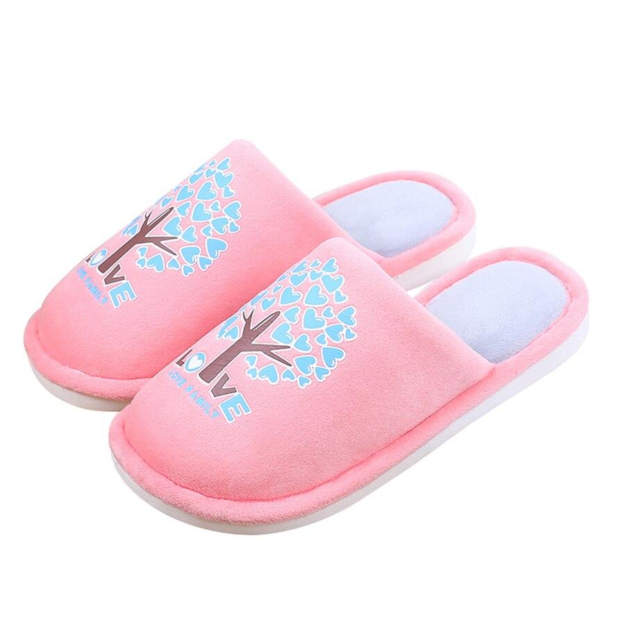 Зимние, теплые домашние Тапочки печати Женщины Мужчины Мягкий хлопок-мягкий любителей домашние тапочки для влюбленных Пара домашняя обувь