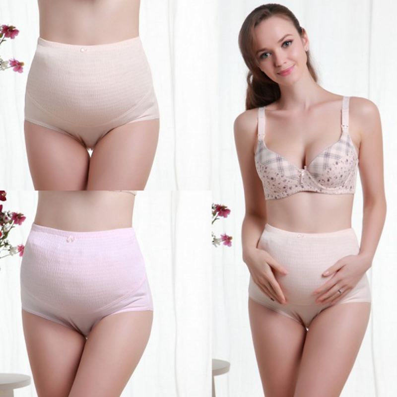 100% Cotton Blend High Waist Pregnant Belly Care Maternity Panties Brief Pregnancy Underwear For Pregnant Woman high quality