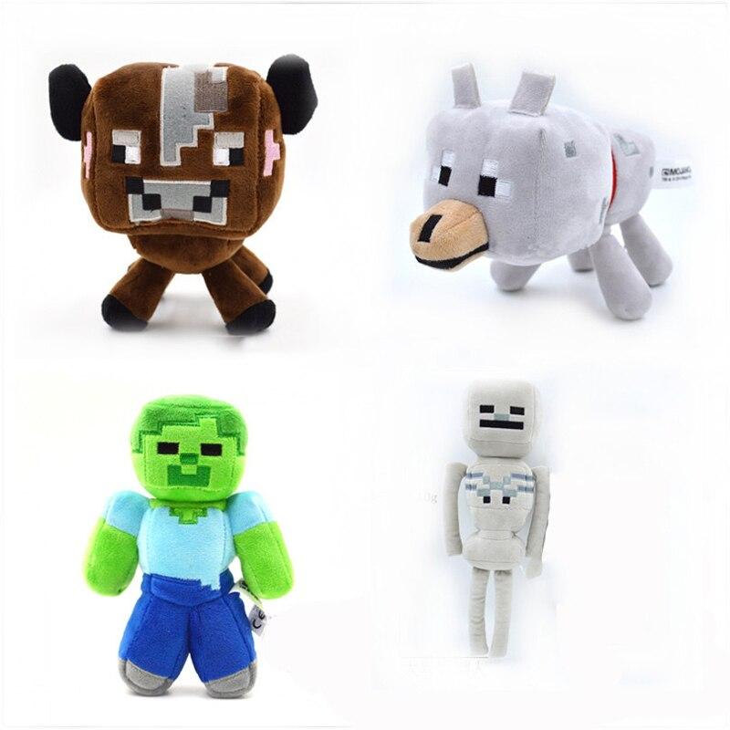 Wolf Toys For Boys : Pcs lot minecraft stuffed plush toys steve wolf