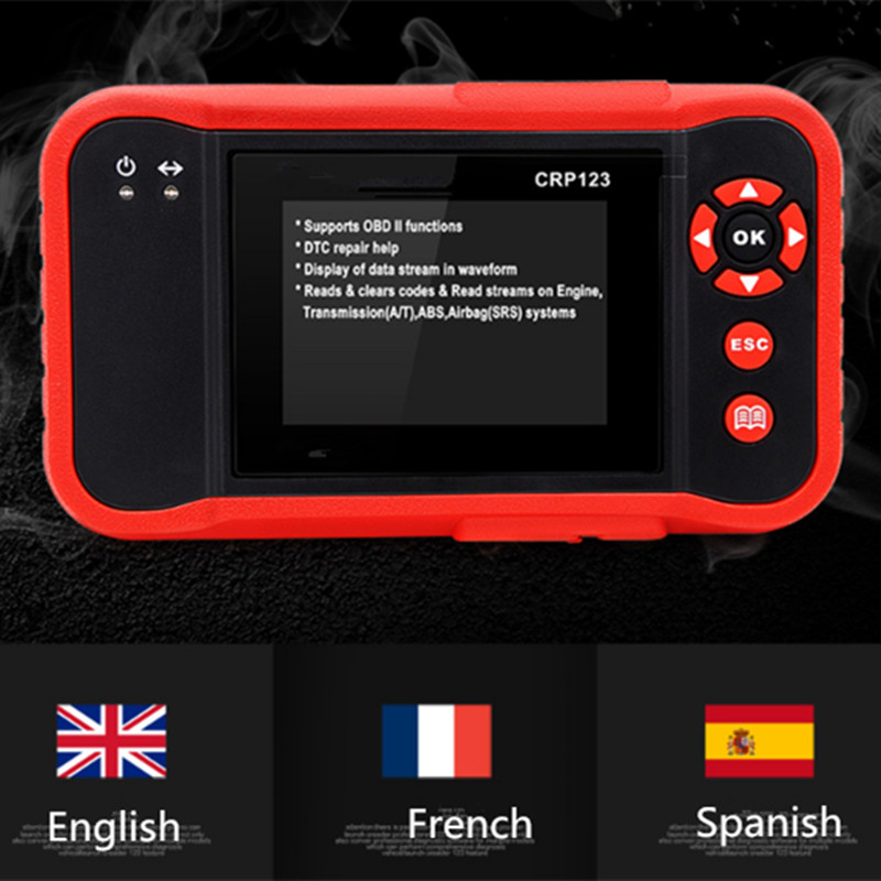OBDII Code Reader Scanner Test Engine/ABS/SRS/AT CRP123 Auto Diagnostic Tool - 6