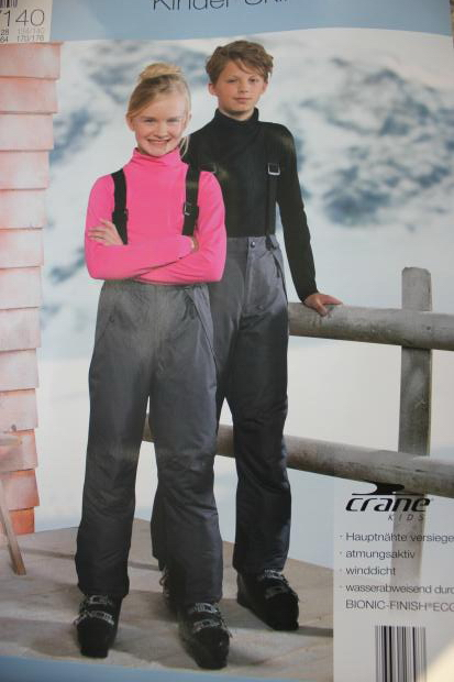Image 2 - Winter Pants Kids Waterproof Skiing Pants for Girl and Boy Cotton padded Warm Baby Jumpsuits Children Outdoor Sport Clothes-in Pants from Mother & Kids